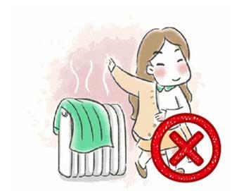 湿衣服不要放在暖气片上